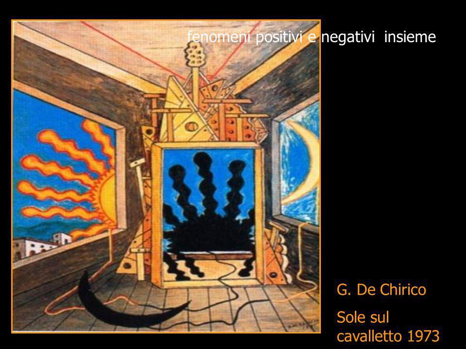 G. De Chirico Sole sul cavalletto 1973 fenomeni positivi e negativi insieme