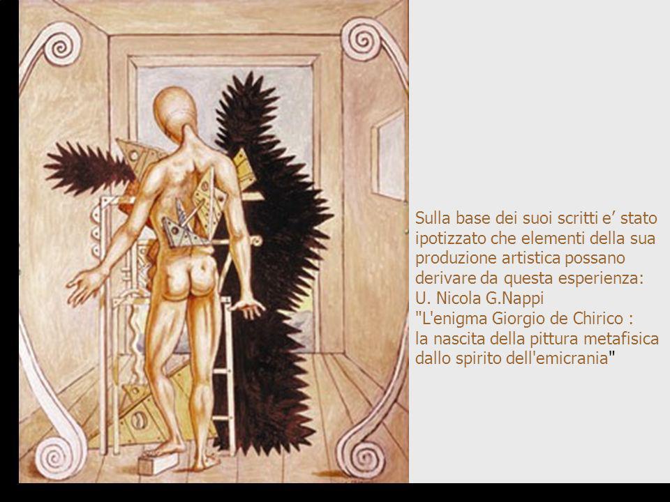 Sulla base dei suoi scritti e stato ipotizzato che elementi della sua produzione artistica possano derivare da questa esperienza: U. Nicola G.Nappi