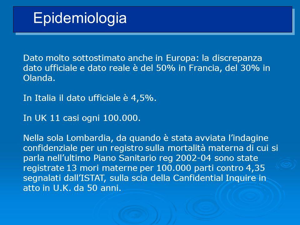 Dato molto sottostimato anche in Europa: la discrepanza dato ufficiale e dato reale è del 50% in Francia, del 30% in Olanda. In Italia il dato ufficia