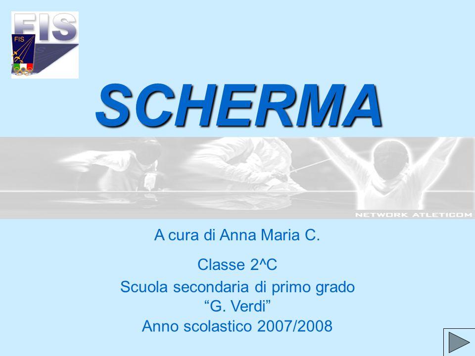 SCHERMA A cura di Anna Maria C. Classe 2^C Anno scolastico 2007/2008 Scuola secondaria di primo grado G. Verdi