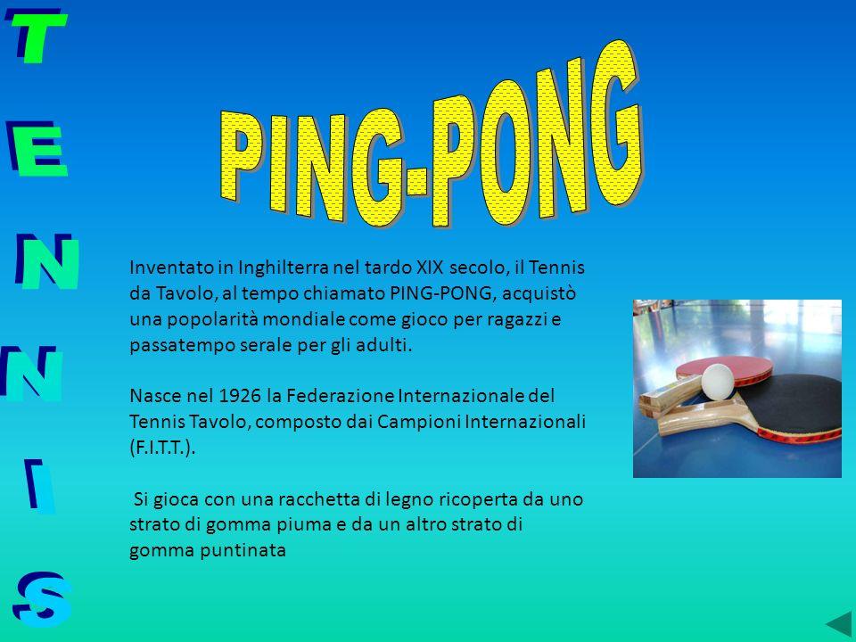 Inventato in Inghilterra nel tardo XIX secolo, il Tennis da Tavolo, al tempo chiamato PING-PONG, acquistò una popolarità mondiale come gioco per ragaz