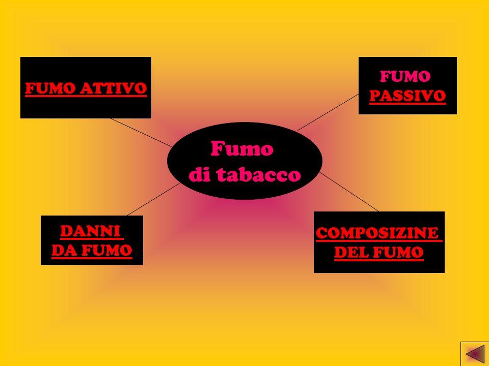 Fumo di tabacco DANNI DA FUMO FUMO ATTIVO FUMO PASSIVO COMPOSIZINE DEL FUMO