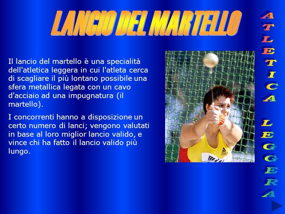Il lancio del martello è una specialità dell'atletica leggera in cui l'atleta cerca di scagliare il più lontano possibile una sfera metallica legata c