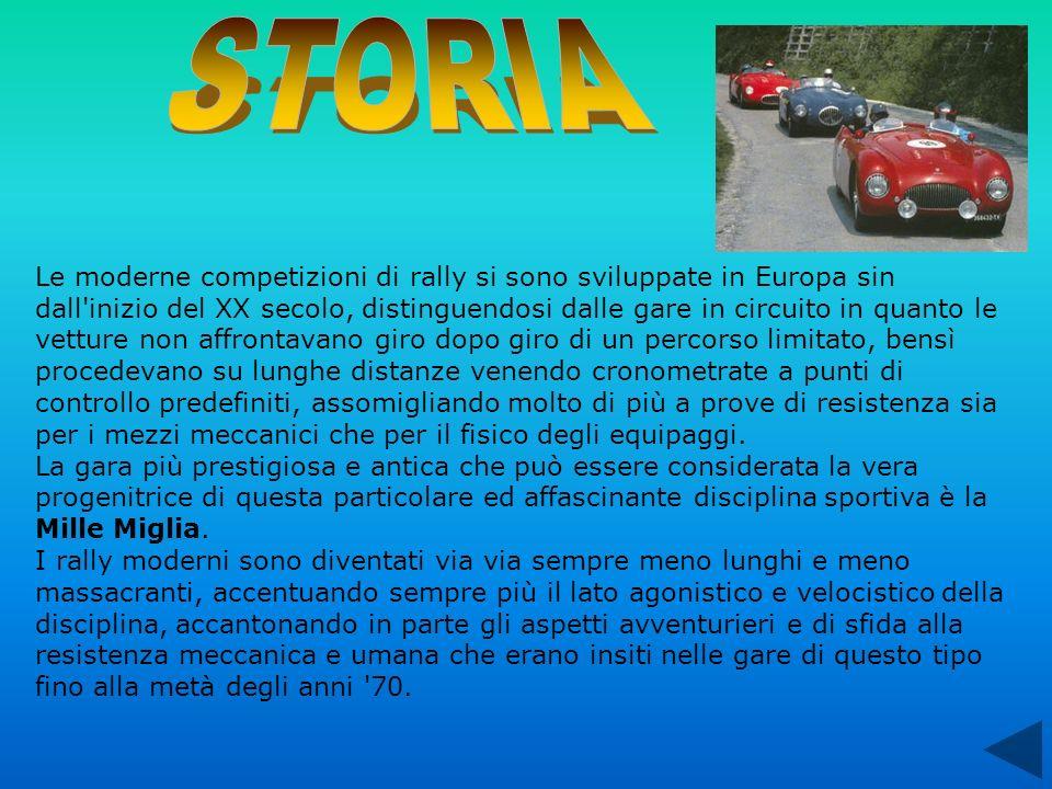 Le moderne competizioni di rally si sono sviluppate in Europa sin dall'inizio del XX secolo, distinguendosi dalle gare in circuito in quanto le vettur
