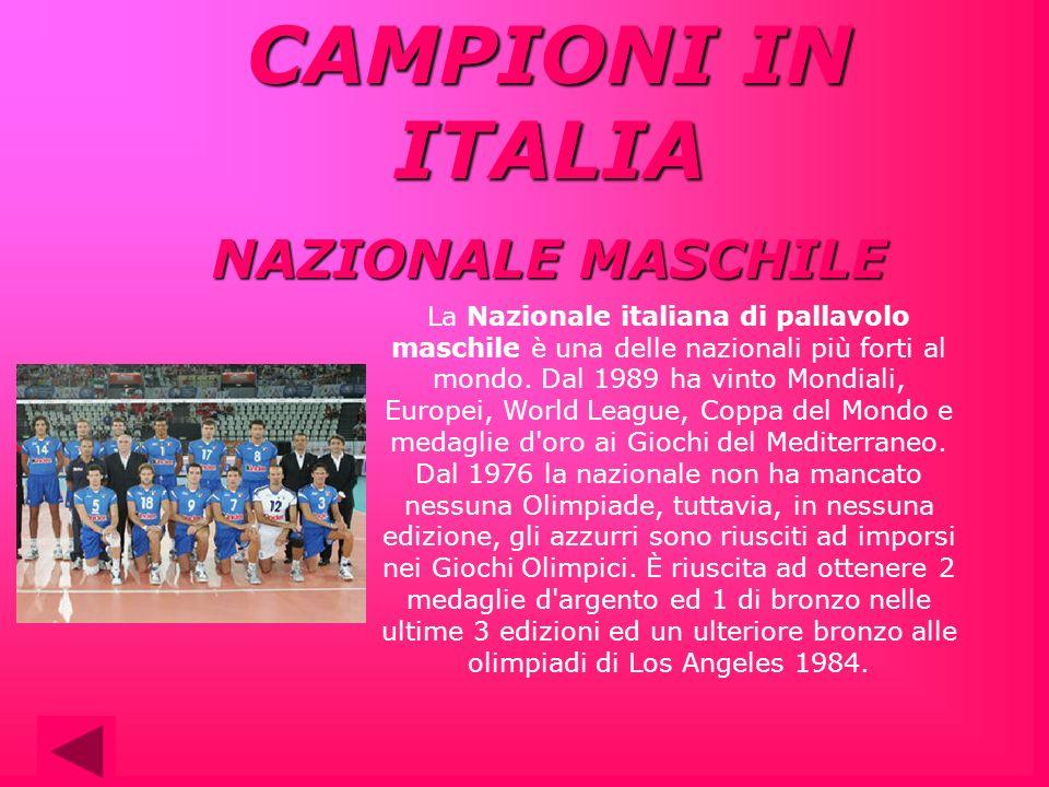 La Nazionale italiana di pallavolo maschile è una delle nazionali più forti al mondo. Dal 1989 ha vinto Mondiali, Europei, World League, Coppa del Mon