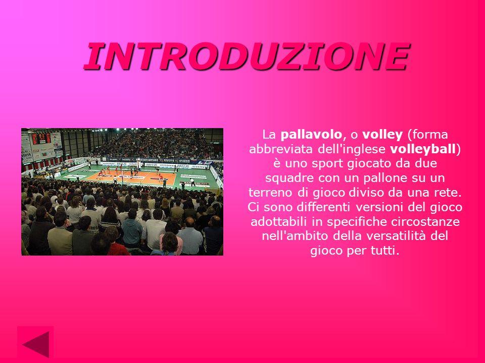 La pallavolo, o volley (forma abbreviata dell'inglese volleyball) è uno sport giocato da due squadre con un pallone su un terreno di gioco diviso da u