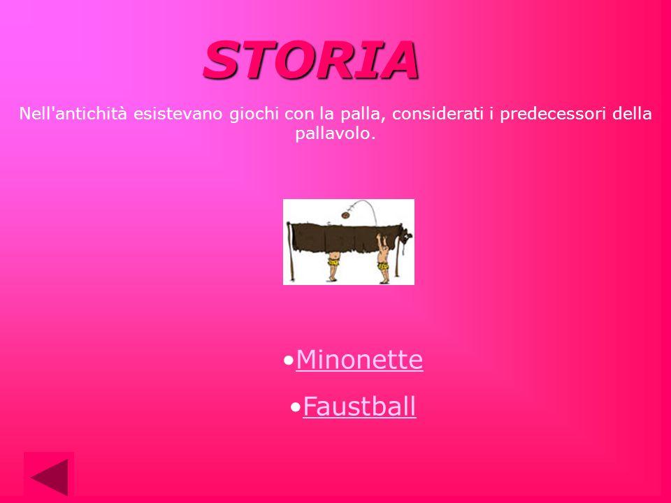Nell'antichità esistevano giochi con la palla, considerati i predecessori della pallavolo. STORIA Minonette Faustball