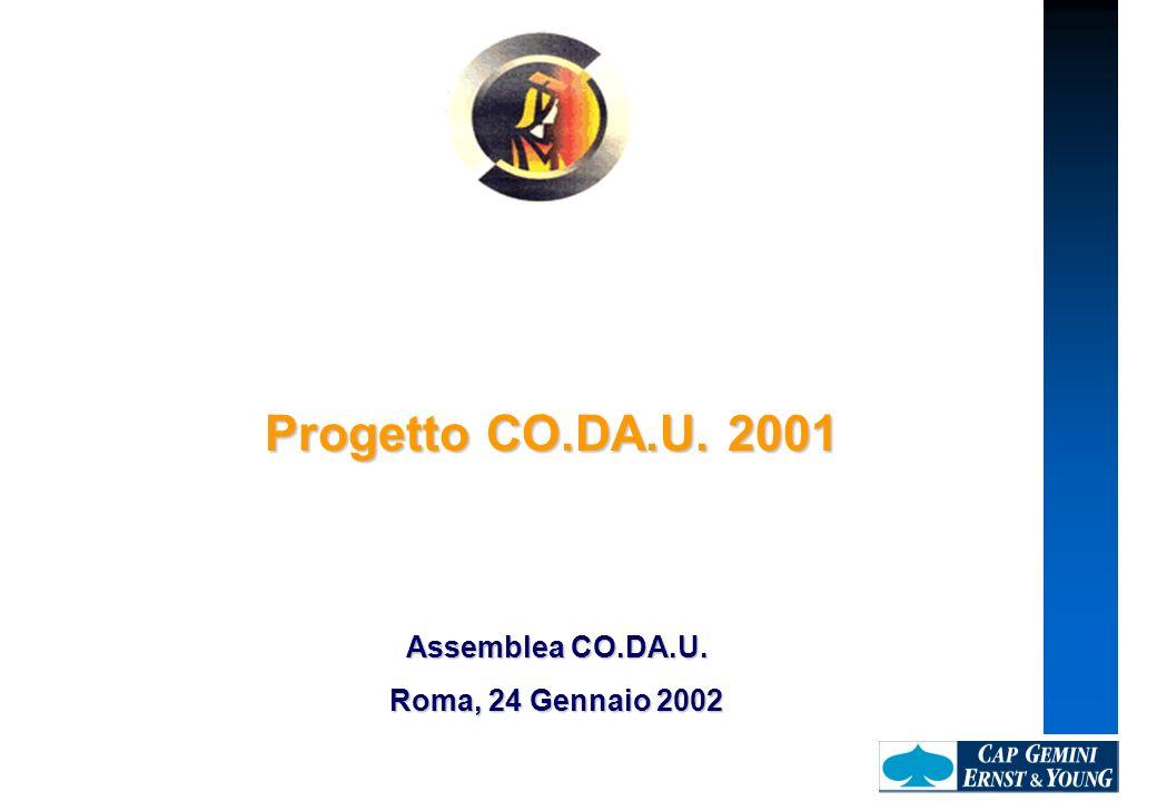 Progetto CO.DA.U. 2001 Assemblea CO.DA.U. Roma, 24 Gennaio 2002