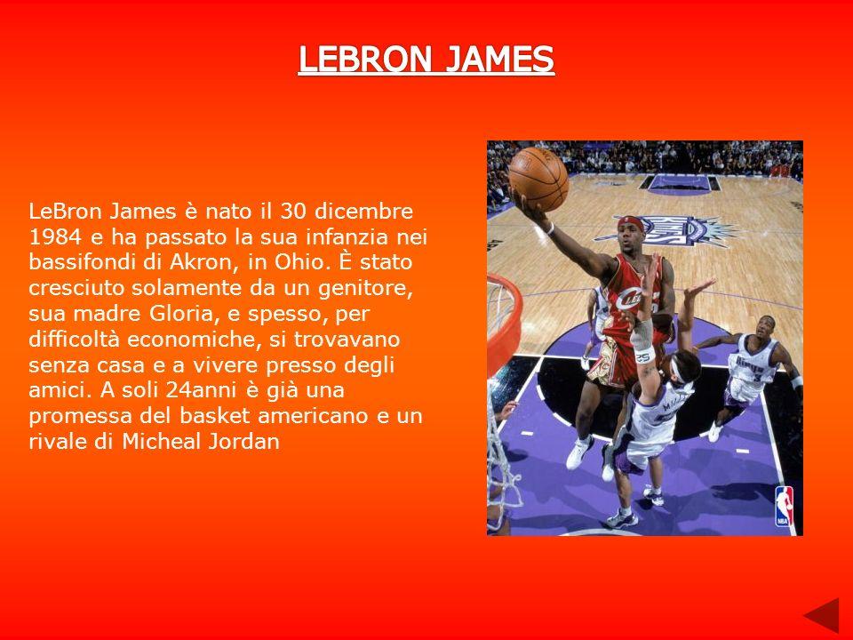 LeBron James è nato il 30 dicembre 1984 e ha passato la sua infanzia nei bassifondi di Akron, in Ohio. È stato cresciuto solamente da un genitore, sua