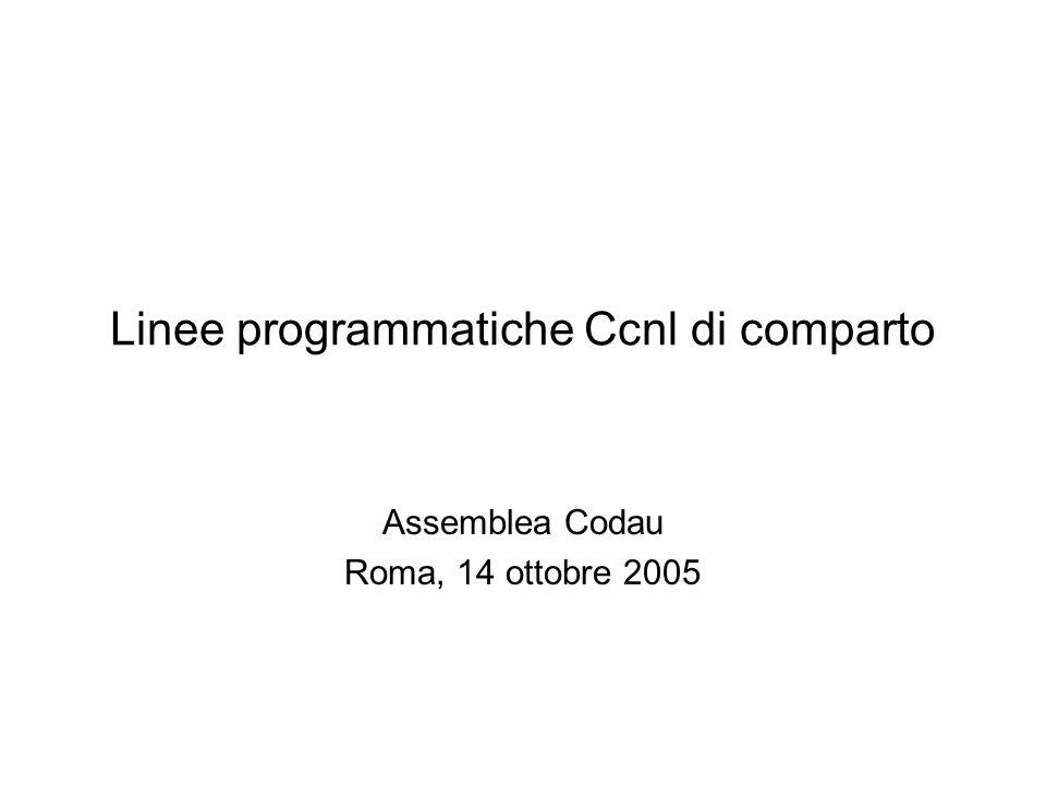 Linee programmatiche Ccnl di comparto Assemblea Codau Roma, 14 ottobre 2005