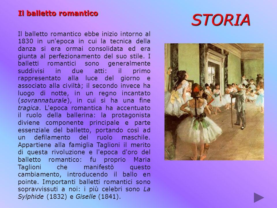 Il balletto romantico Il balletto romantico ebbe inizio intorno al 1830 in un'epoca in cui la tecnica della danza si era ormai consolidata ed era giun