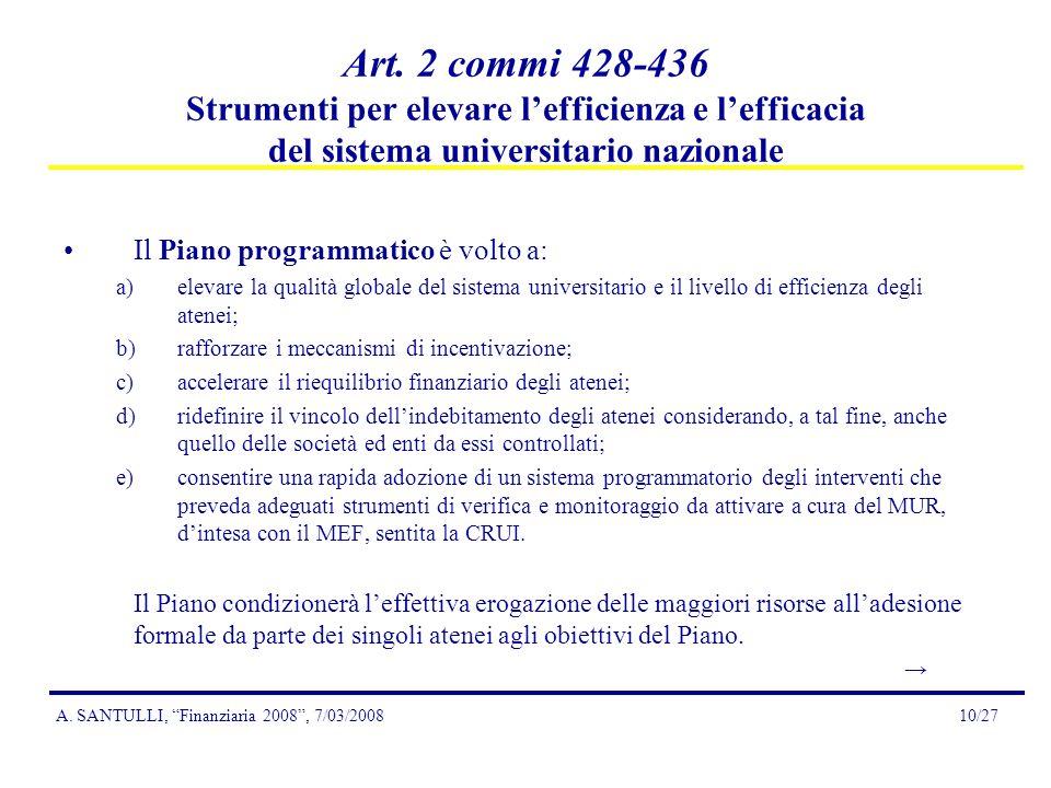 A. SANTULLI, Finanziaria 2008, 7/03/200810/27 Art.