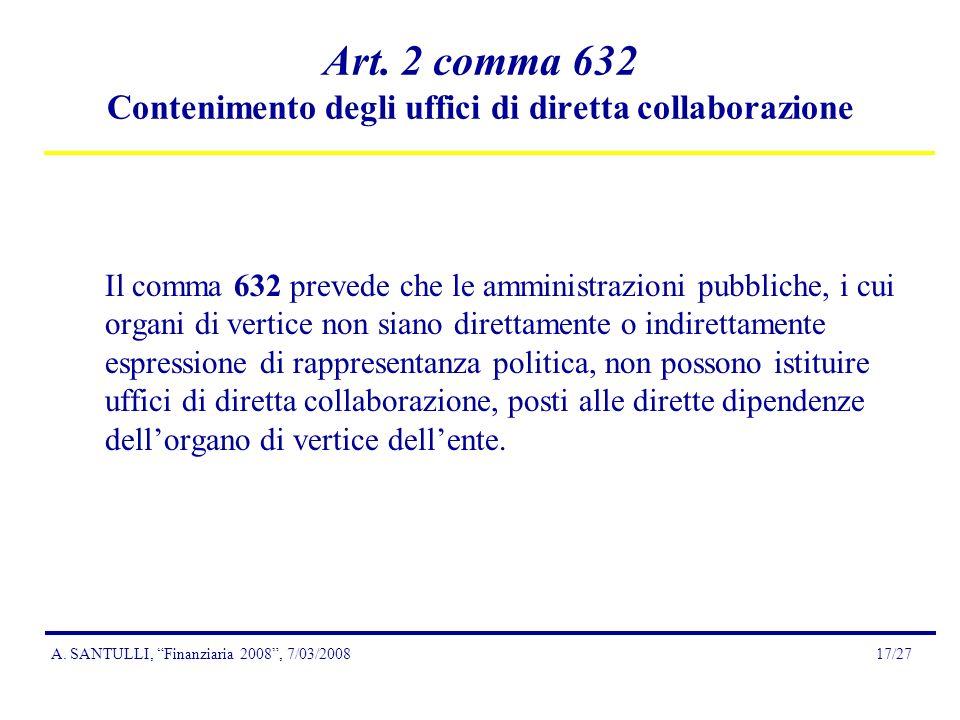 A.SANTULLI, Finanziaria 2008, 7/03/200817/27 Art.