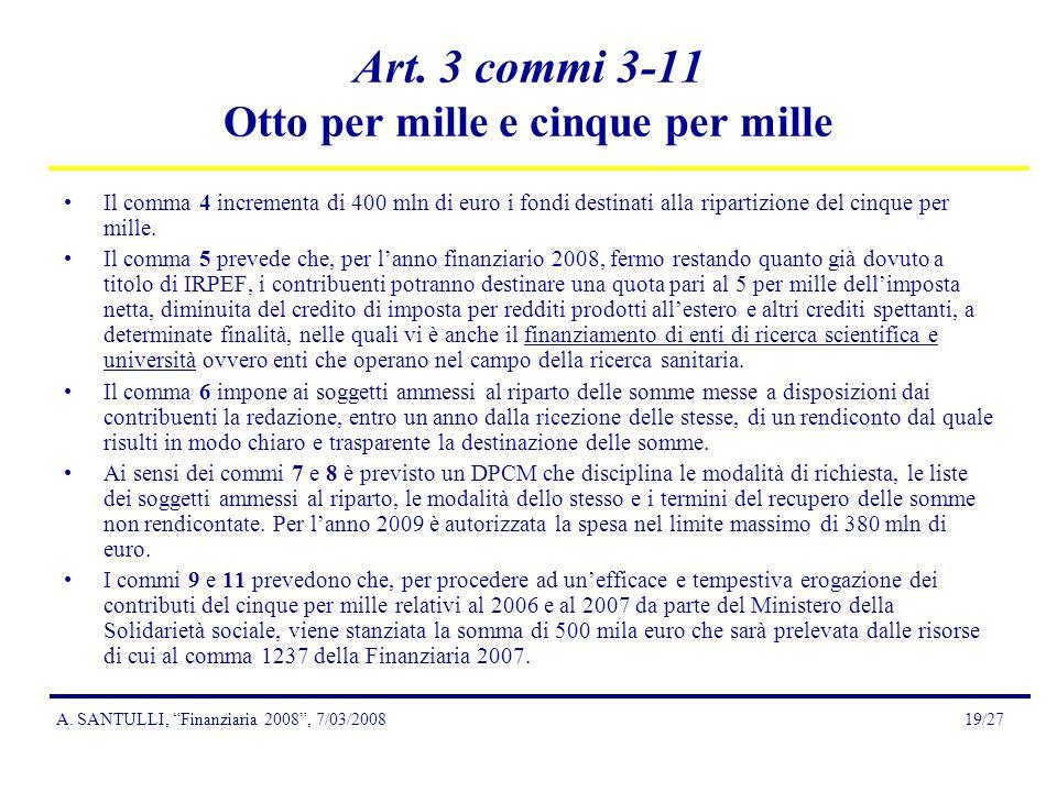 A. SANTULLI, Finanziaria 2008, 7/03/200819/27 Art.