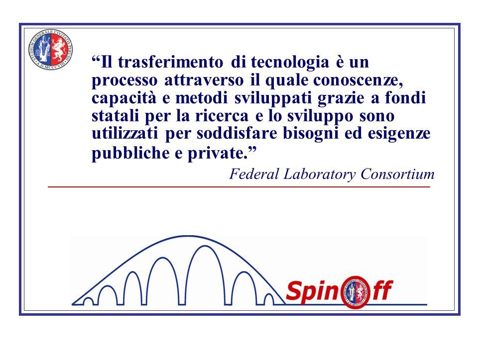 Il trasferimento di tecnologia è un processo attraverso il quale conoscenze, capacità e metodi sviluppati grazie a fondi statali per la ricerca e lo sviluppo sono utilizzati per soddisfare bisogni ed esigenze pubbliche e private.