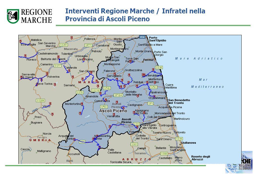 Interventi Regione Marche / Infratel nella Provincia di Ascoli Piceno