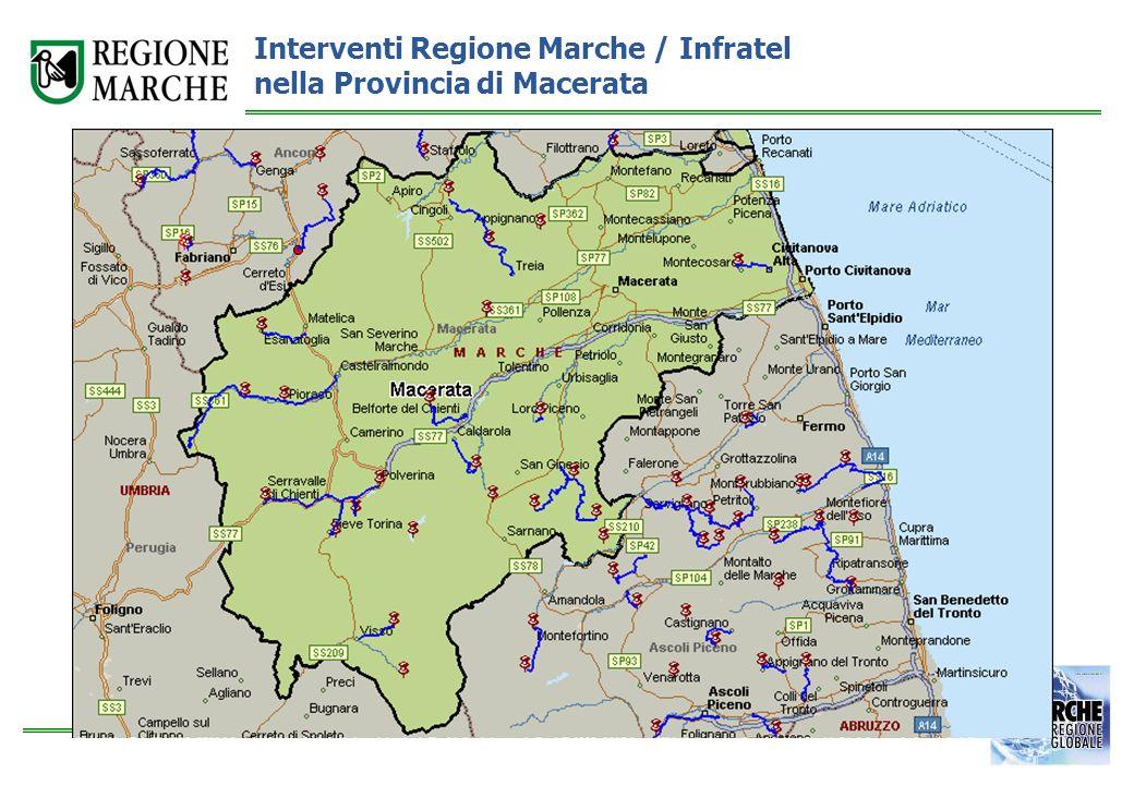 Interventi Regione Marche / Infratel nella Provincia di Macerata