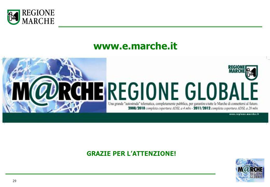 29 GRAZIE PER LATTENZIONE! www.e.marche.it
