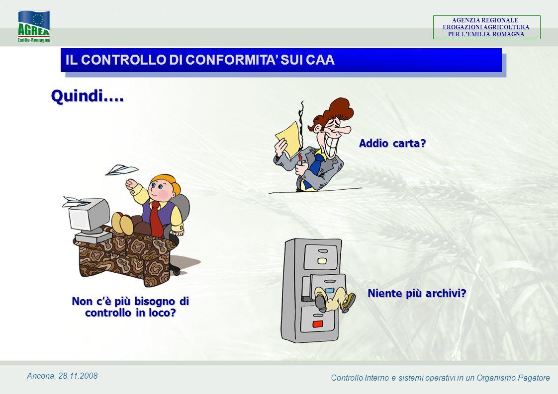 Controllo Interno e sistemi operativi in un Organismo Pagatore AGENZIA REGIONALE EROGAZIONI AGRICOLTURA PER LEMILIA-ROMAGNA Ancona, 28.11.2008 Non cè