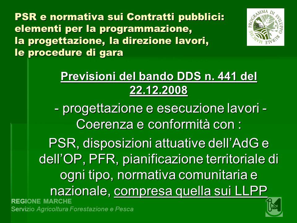REGIONE MARCHE Servizio Agricoltura Forestazione e Pesca Determinazione n.