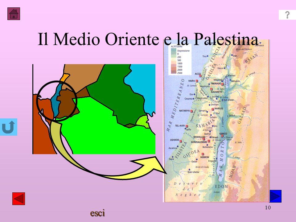 esci 9 La storia del popolo ebraico Al ritorno dallEgitto (1300 a.C.) gli ebrei si insediano in Palestina combattendo i Filistei regno con Saul, David