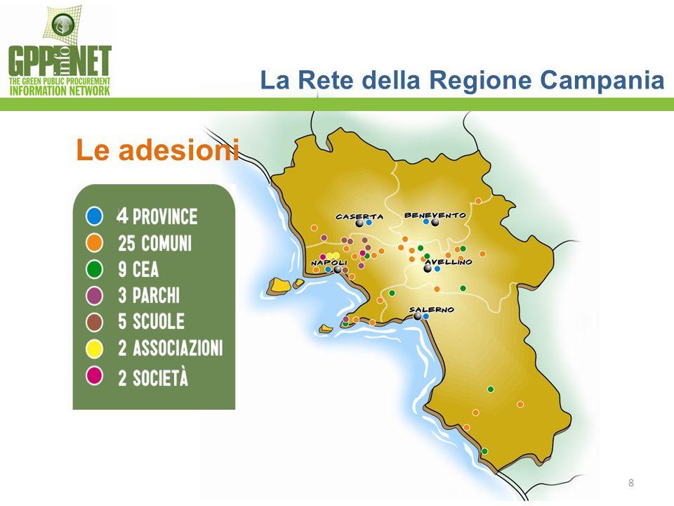 8 La Rete della Regione Campania Le adesioni 4