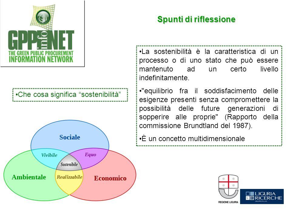 La sostenibilità è la caratteristica di un processo o di uno stato che può essere mantenuto ad un certo livello indefinitamente.