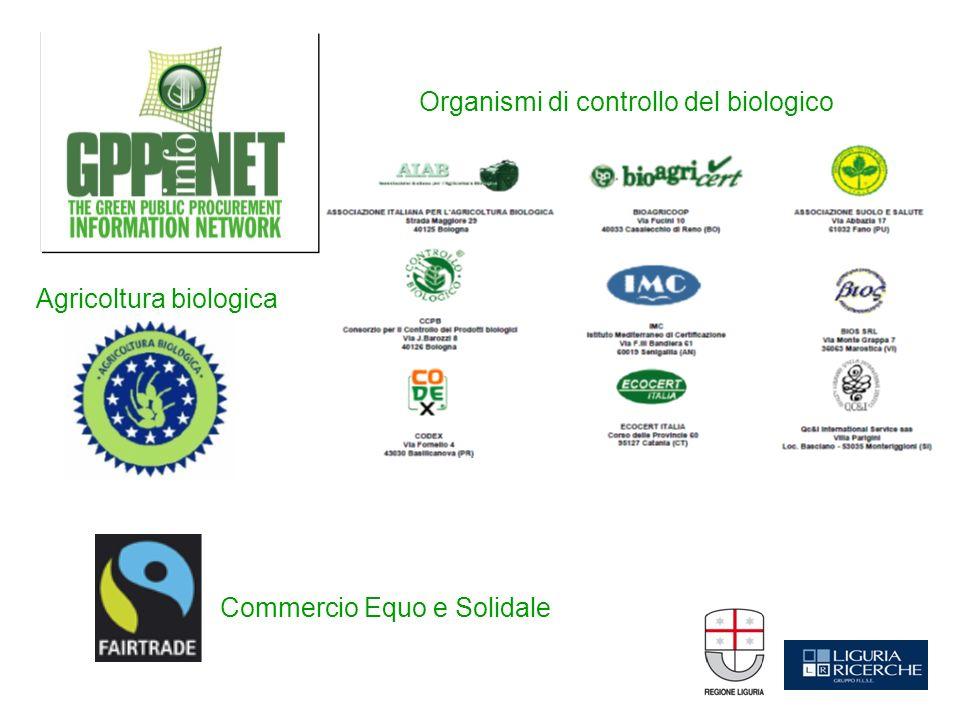 Organismi di controllo del biologico Commercio Equo e Solidale Agricoltura biologica