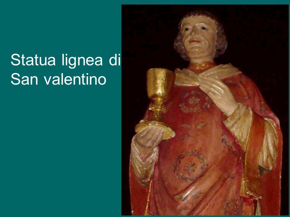Statua lignea di San valentino
