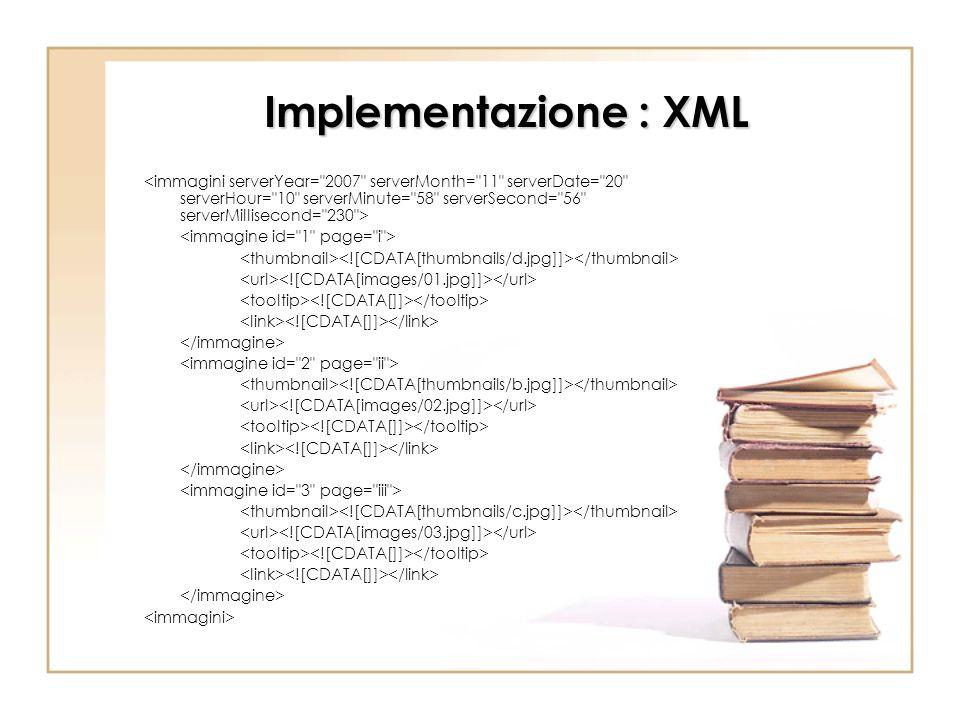 Implementazione : XML