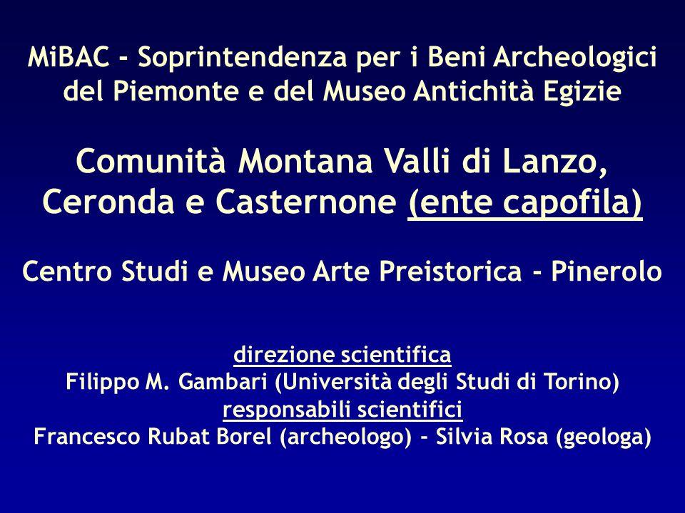 MiBAC - Soprintendenza per i Beni Archeologici del Piemonte e del Museo Antichità Egizie Comunità Montana Valli di Lanzo, Ceronda e Casternone (ente c