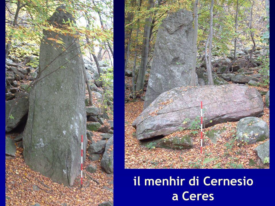 il menhir di Cernesio a Ceres