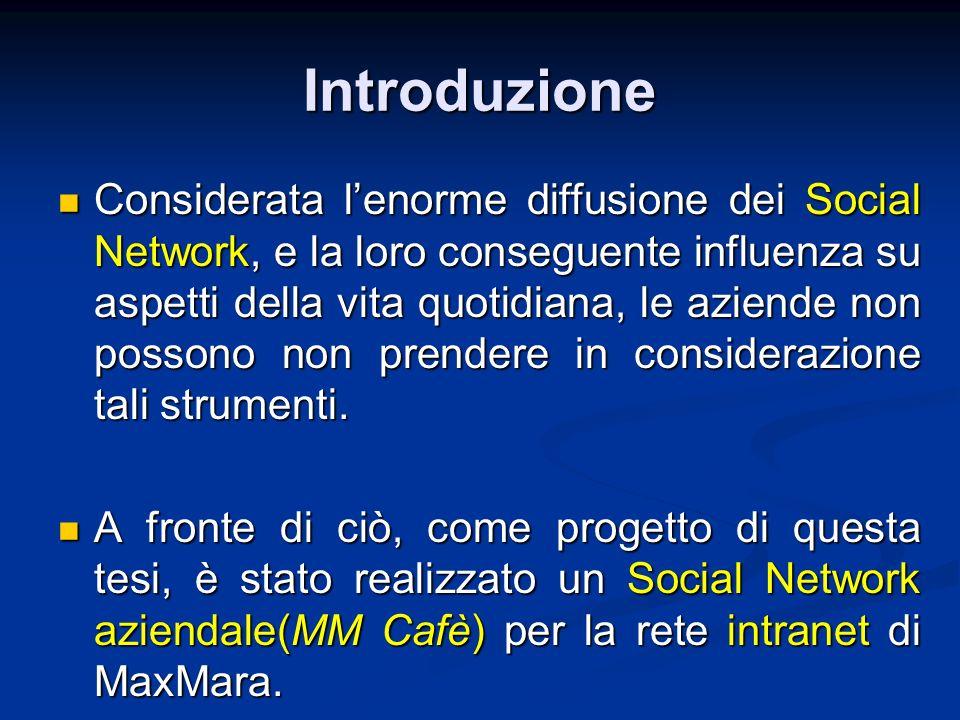 Considerata lenorme diffusione dei Social Network, e la loro conseguente influenza su aspetti della vita quotidiana, le aziende non possono non prende
