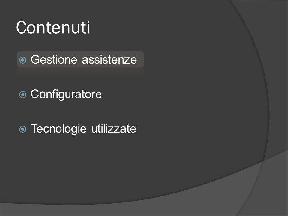 G ESTIONE ASSISTENZE Creazione nuova scheda Stato IN LAVORAZIONE Creazione PDF ritiro