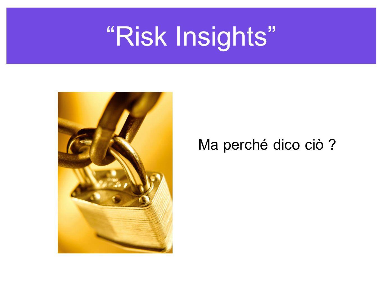 Risk Insights Ma perché dico ciò ?