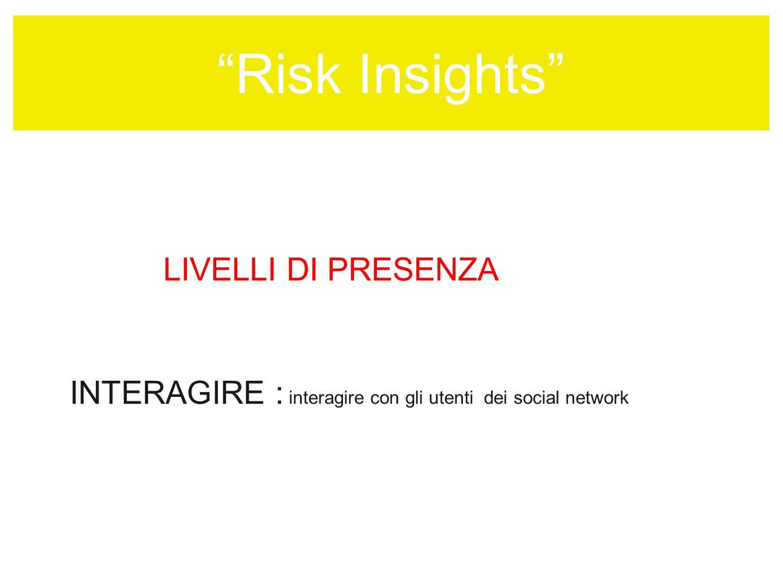 LIVELLI DI PRESENZA INTERAGIRE : interagire con gli utenti dei social network