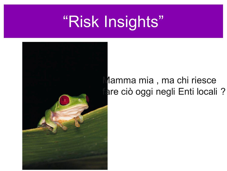 Risk Insights Mamma mia, ma chi riesce fare ciò oggi negli Enti locali ?