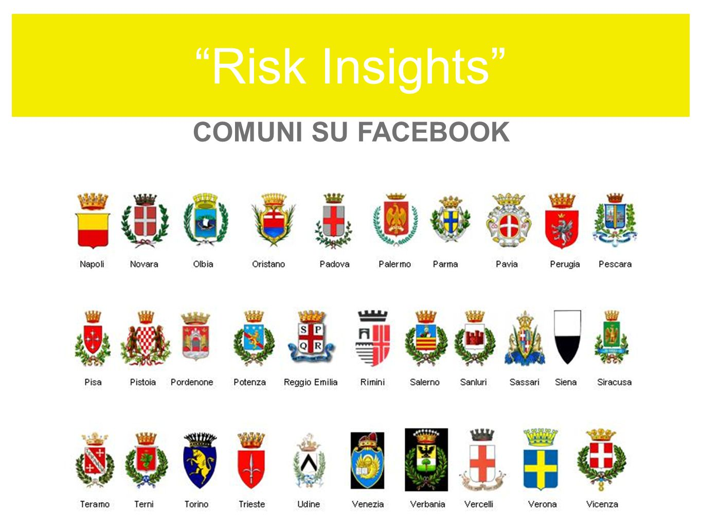 Risk Insights COMUNI SU FACEBOOK