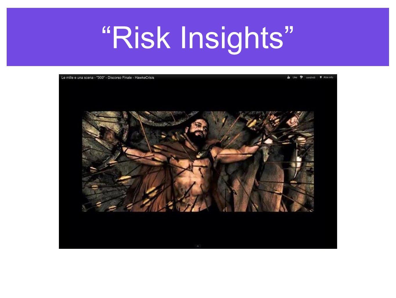 Risk Insights UN ESEMPIO: DOBBIAMO STARE ATTENTI ALLE INFORMAZIONI SPAZZATURA
