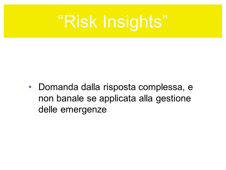 Risk Insights ANZI il corretto utilizzo favorisce lEnte PERCHE?