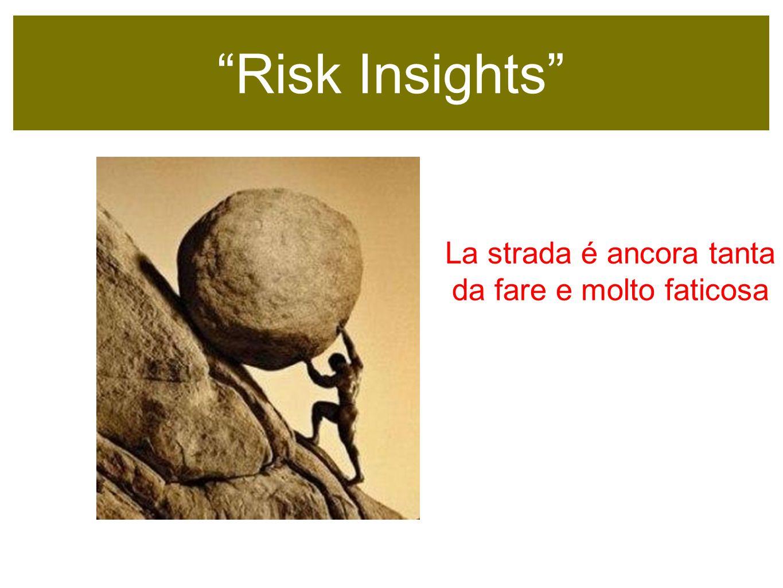 Risk Insights sempre colore nellinformazione La strada é ancora tanta da fare e molto faticosa