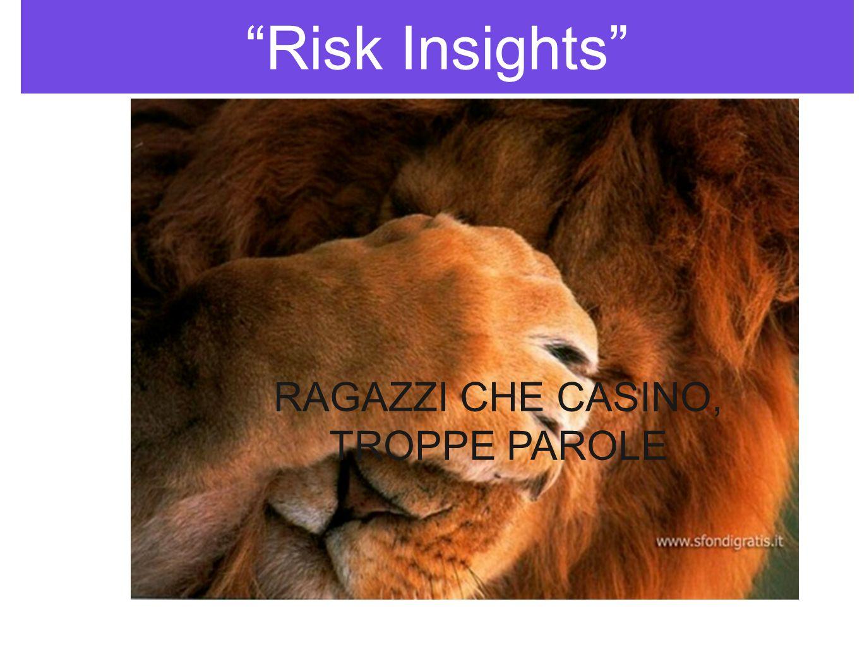 Risk Insights sempre colore nellinformazione SENZA AMBIGUITA