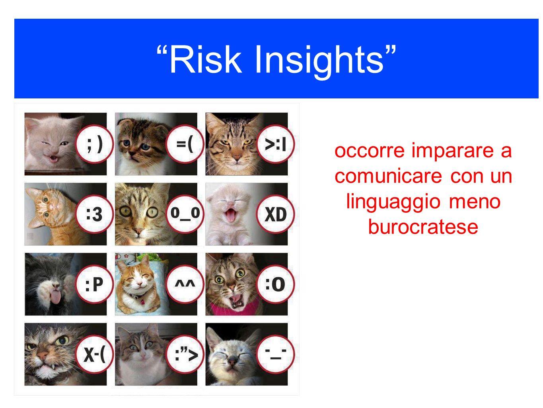 Risk Insights sempre colore nellinformazione occorre imparare a comunicare con un linguaggio meno burocratese
