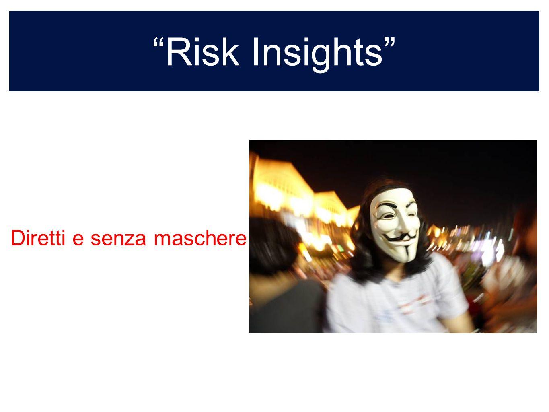 Risk Insights sempre colore nellinformazione Diretti e senza maschere