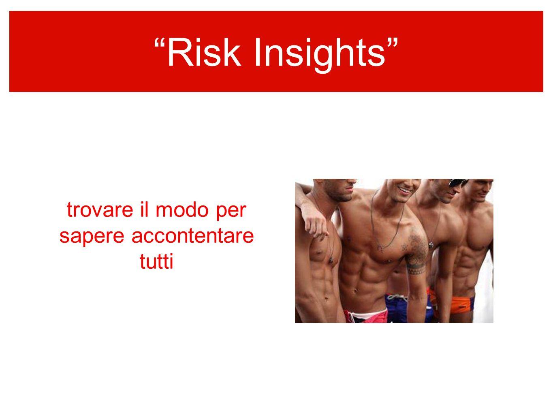 Risk Insights sempre colore nellinformazione trovare il modo per sapere accontentare tutti