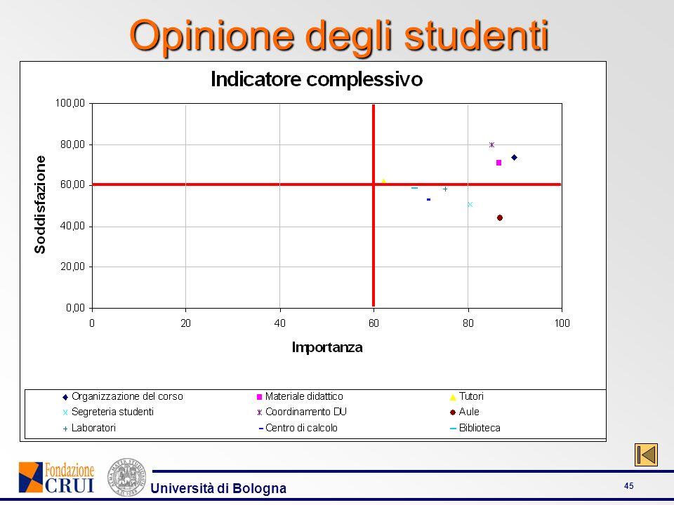 Università di Bologna 45 Opinione degli studenti