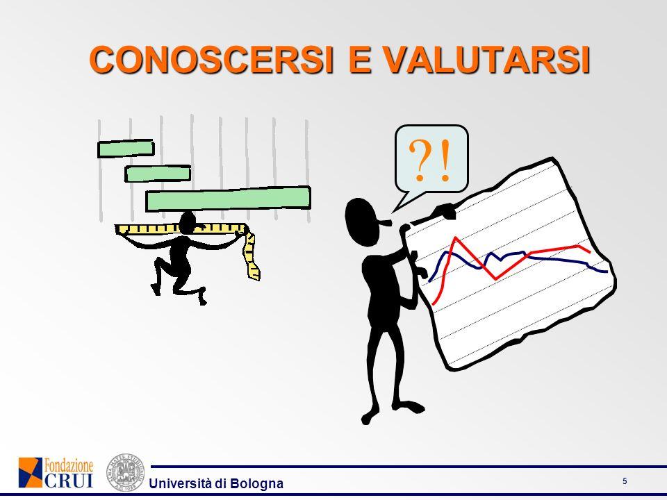 Università di Bologna 5 CONOSCERSI E VALUTARSI ?!