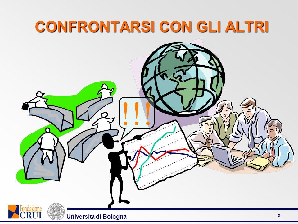 Università di Bologna 8 CONFRONTARSI CON GLI ALTRI !!!