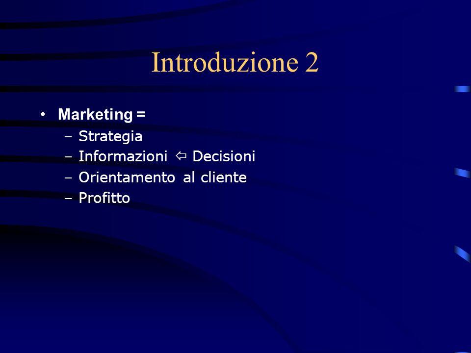 Il sistema informativo di marketing - 1 che cosè: –strumento a disposizione del management per contribuire alla soluzione dei problemi e, più in generale, allassunzione delle decisioni –consiste in una struttura intesa a generare e gestire un flusso informativo a supporto del processo decisionale e di controllo