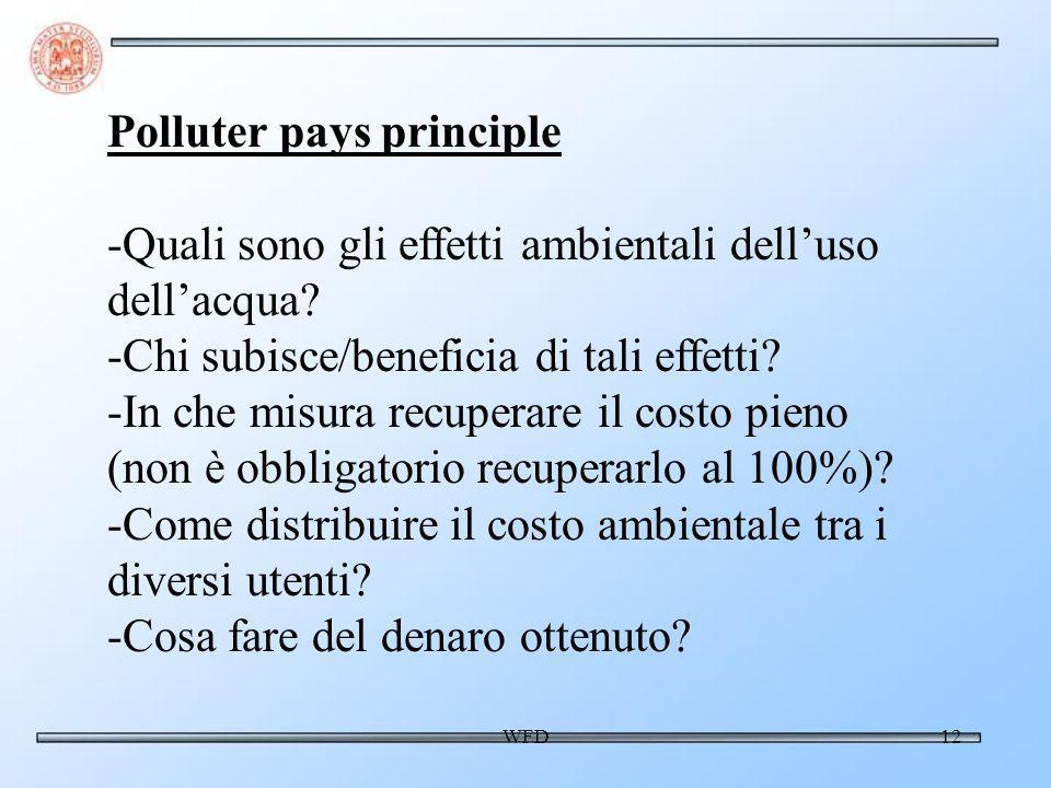 WFD12 Polluter pays principle -Quali sono gli effetti ambientali delluso dellacqua.